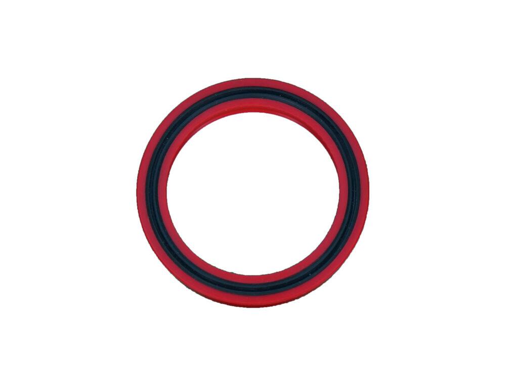 Urethane U ring with o-ring & Teflon corner wear band (1)