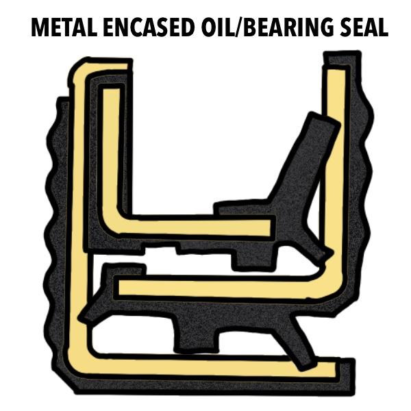 metal encased oil bearing seal